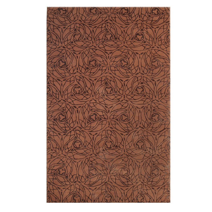 The Rug Market Alison Rust Rectangular Indoor Tufted Area Rug (Common: 5 x 8; Actual: 5-ft W x 8-ft L)