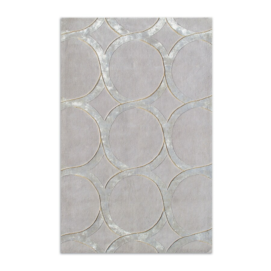 The Rug Market Hedy Silver Rectangular Indoor Tufted Area Rug (Common: 10 x 13; Actual: 120-in W x 156-in L)