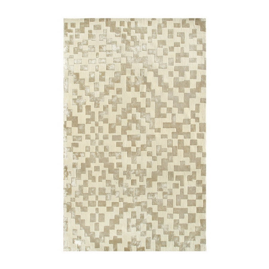 The Rug Market Shabati Rectangular Multicolor Transitional Wool Area Rug (Common: 5-ft x 8-ft; Actual: 5-ft x 8-ft)