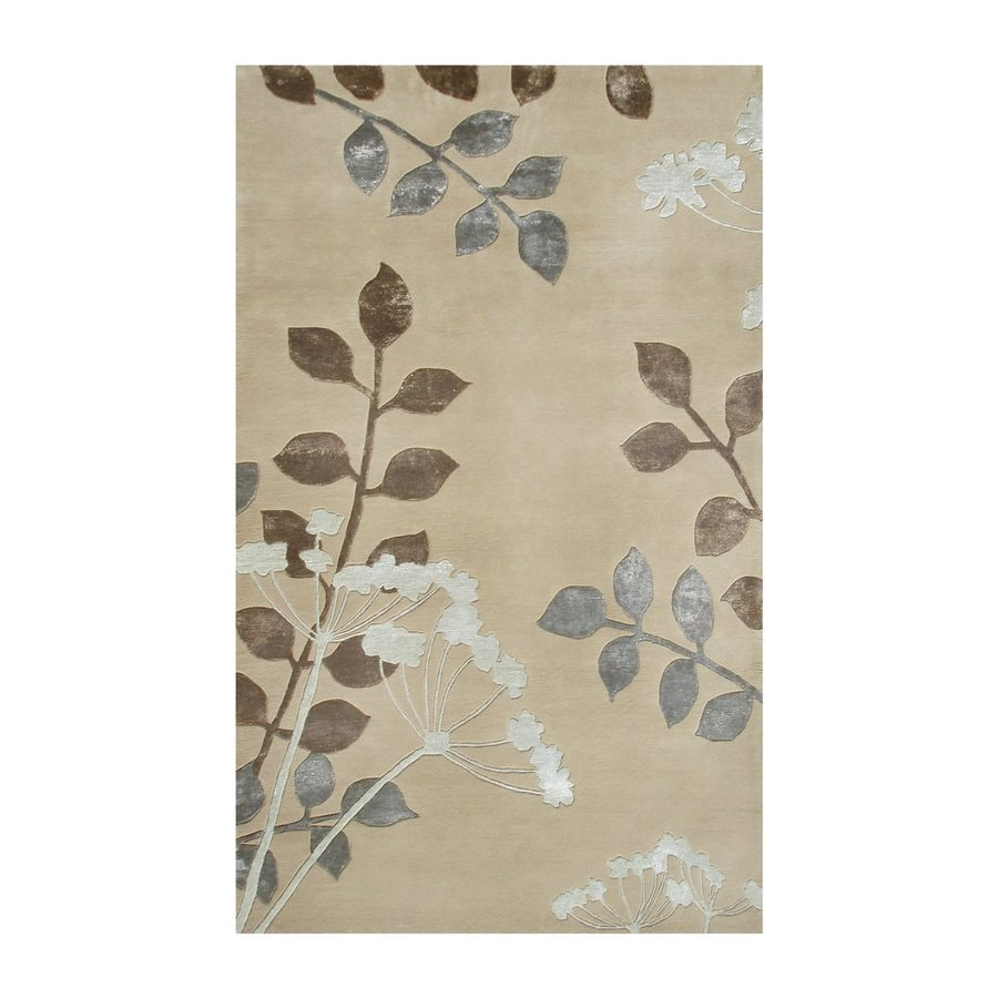 The Rug Market Shabati Silver Rectangular Indoor Tufted Nature Area Rug (Common: 8 x 11; Actual: 8-ft W x 11-ft L)