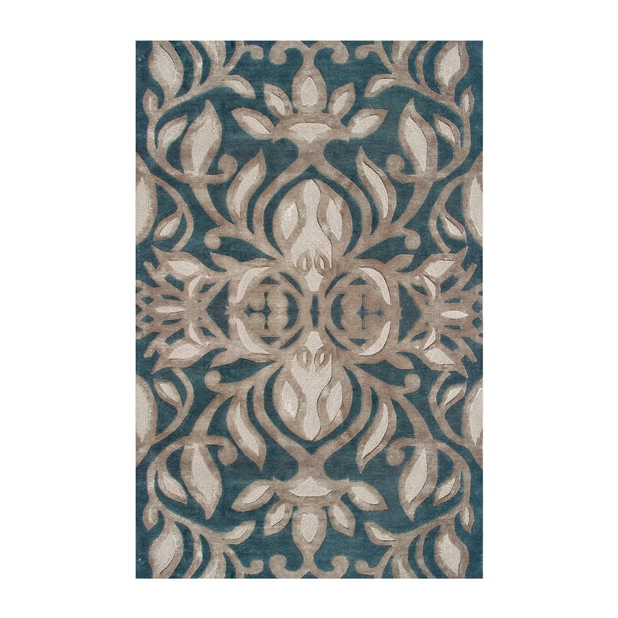 The Rug Market Rexford Teal/Brown/Taupe Rectangular Indoor