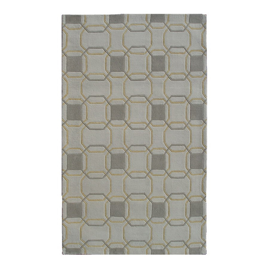 The Rug Market Camden Rectangular Multicolor Geometric Wool Area Rug (Common: 8-ft x 11-ft; Actual: 8-ft x 11-ft)