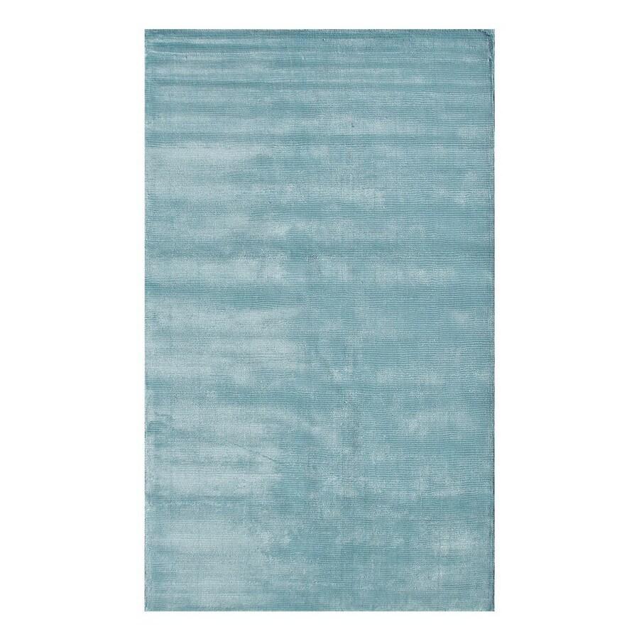 The Rug Market Frisco 10-ft x 13-ft Rectangular Aqua Solid Area Rug