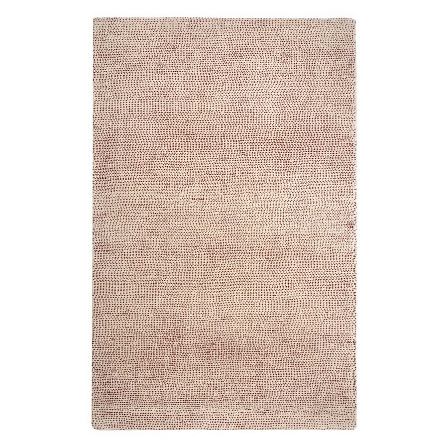 Jaipur Coastal Living Hand Tufted 24-in x 36-in Rectangular White Accent Rug
