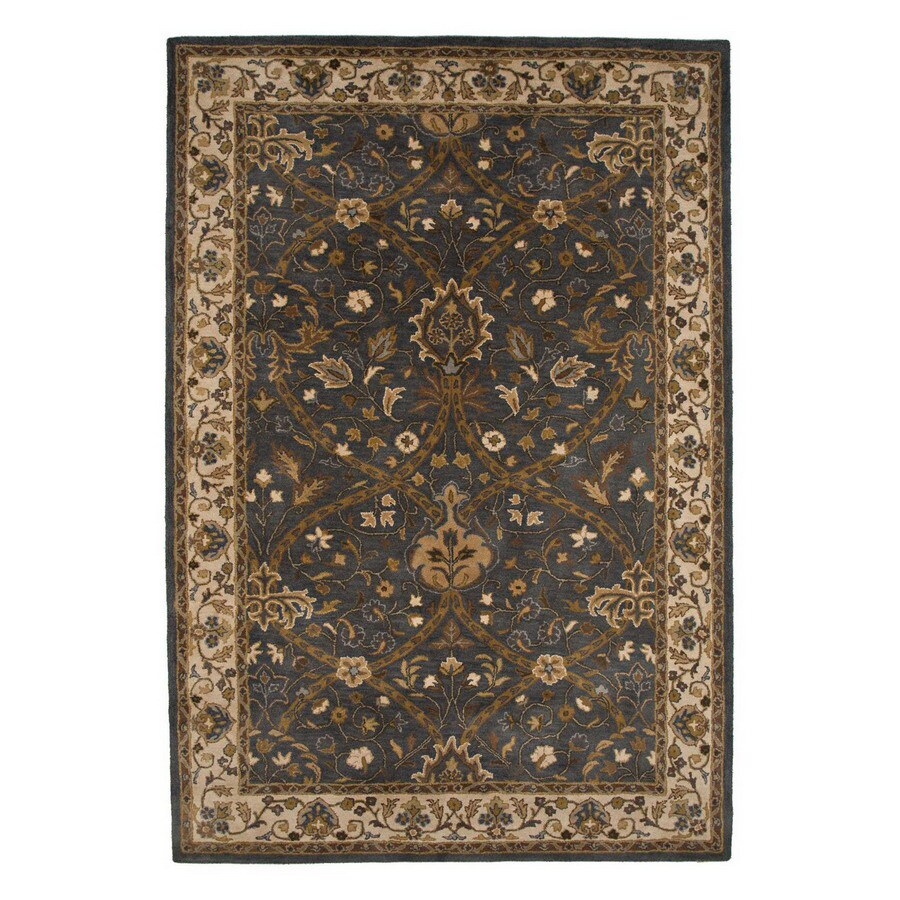 Jaipur Poeme 24-in x 36-in Rectangular Multicolor Transitional Wool Accent Rug