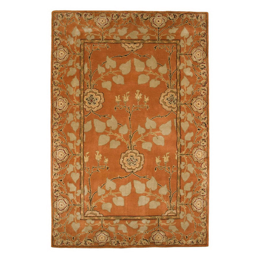 Jaipur Poeme Rectangular Multicolor Floral Wool Accent Rug (Actual: 24-in x 36-in)