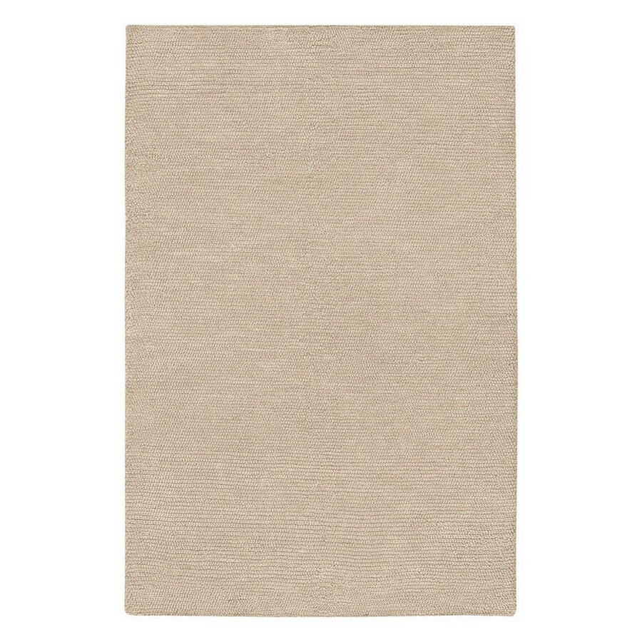 Jaipur Touchpoint 24-in x 36-in Rectangular White Solid Wool Accent Rug
