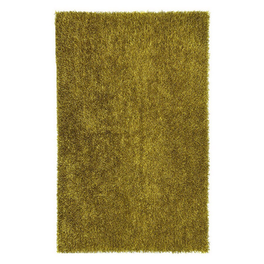 Jaipur Flux 24-in x 36-in Rectangular Green Accent Rug