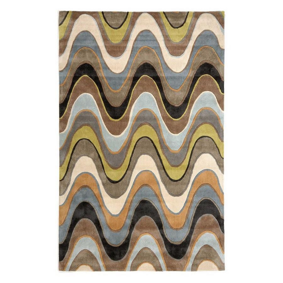 Jaipur Fusion Rectangular Multicolor Transitional Accent Rug (Actual: 24-in x 36-in)