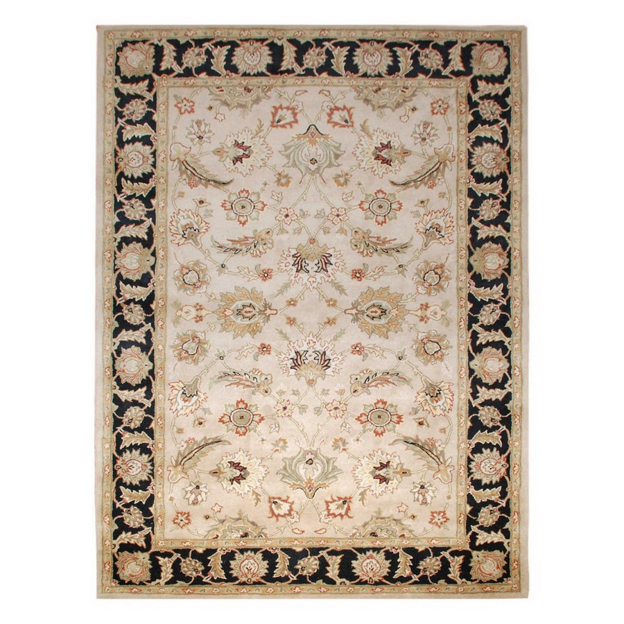 Jaipur Mythos Rectangular Multicolor Transitional Wool Area Rug (Actual: 4-ft x 6-ft)