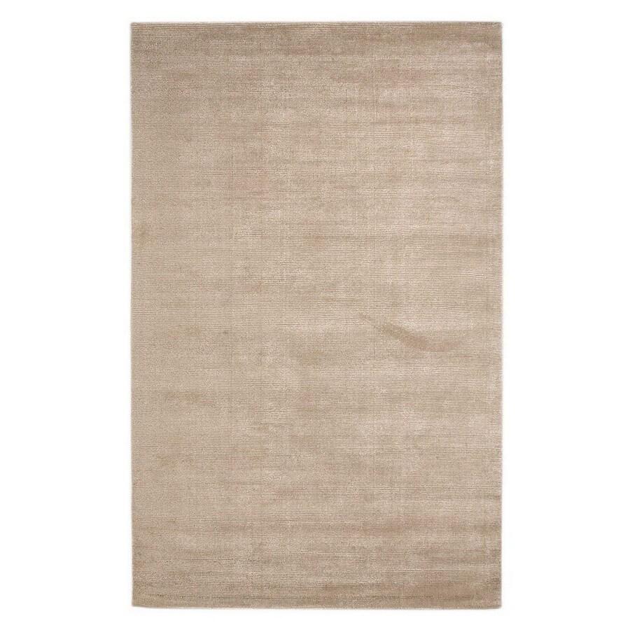 Jaipur Konstrukt Rectangular Cream Solid Wool Area Rug (Actual: 5-ft x 8-ft)
