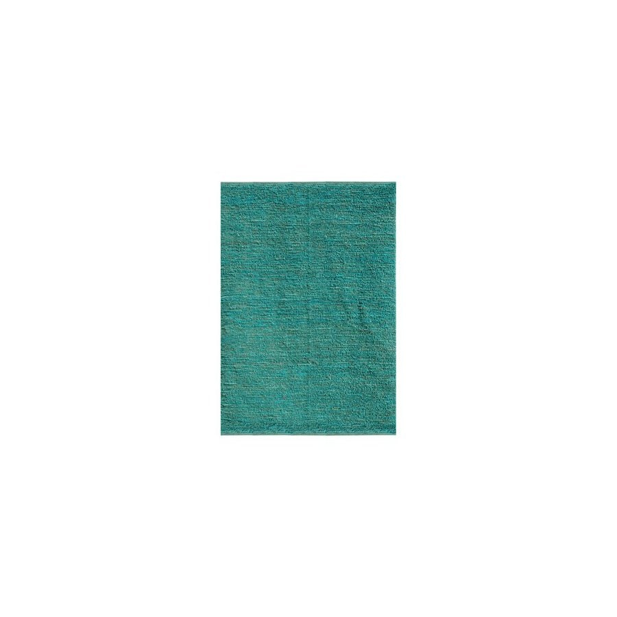 Jaipur Calypso Rectangular Aqua Solid Jute Area Rug (Actual: 8-ft x 10-ft)