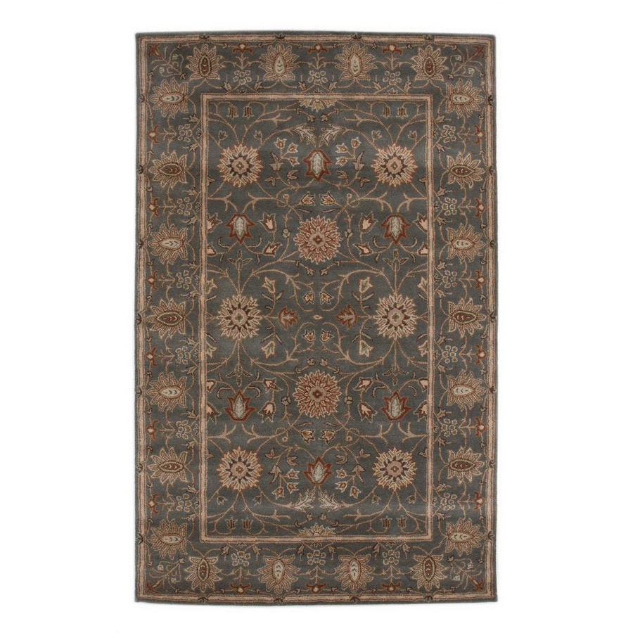 Jaipur Poeme Rectangular Multicolor Transitional Wool Area Rug (Actual: 8-ft x 11-ft)
