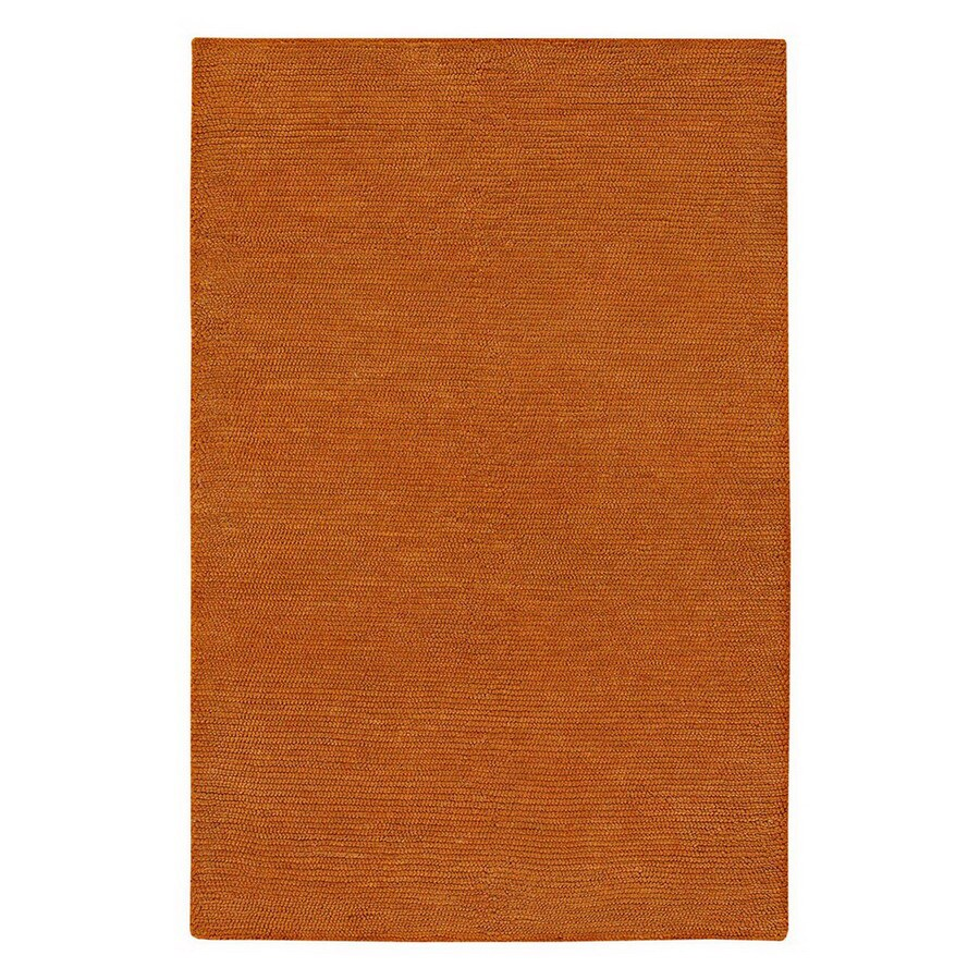 Jaipur Touchpoint 8-ft x 11-ft Rectangular Orange Solid Wool Area Rug