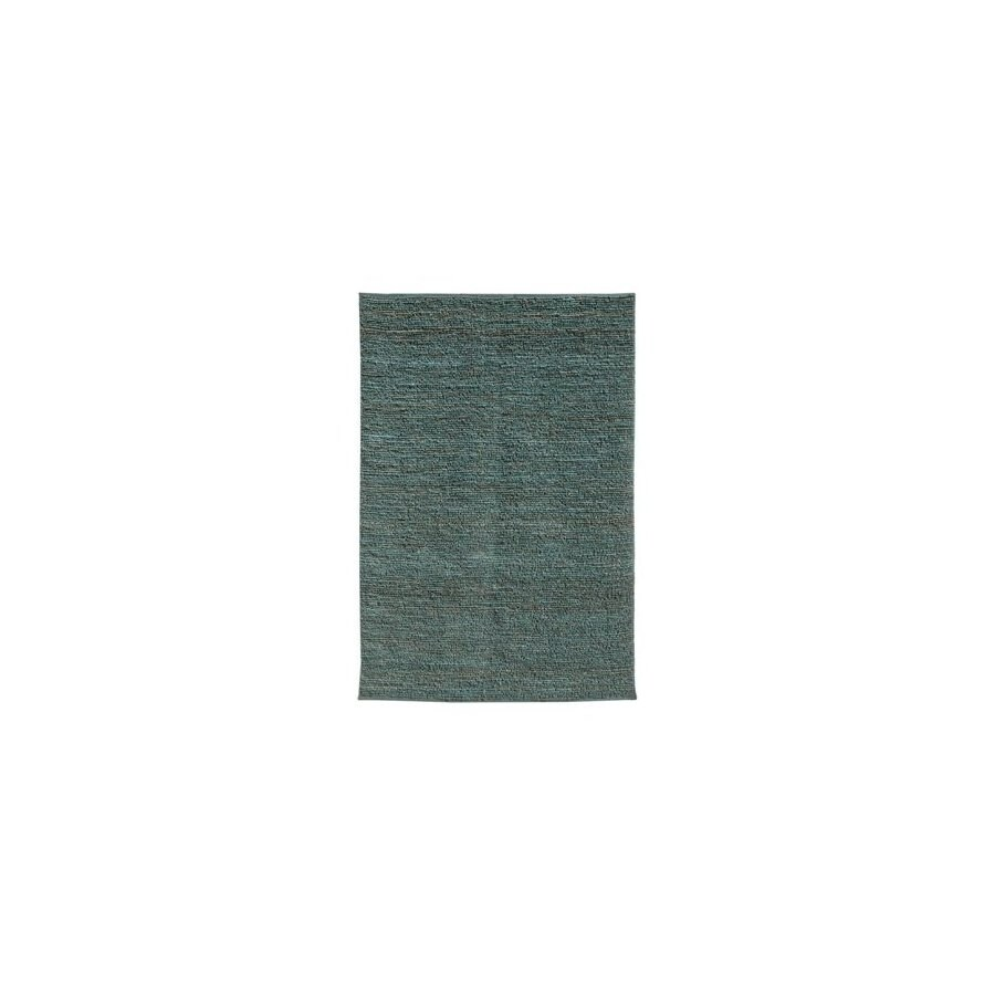 Jaipur Calypso Rectangular Blue Solid Jute Area Rug (Actual: 3-ft 6-in x 5-ft 6-in)