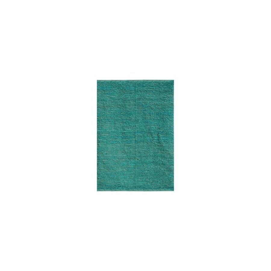 Jaipur Calypso Rectangular Aqua Solid Jute Area Rug (Actual: 3-ft 6-in x 5-ft 6-in)