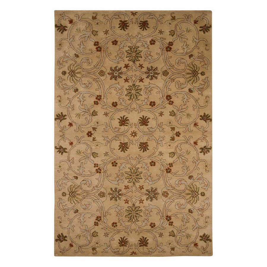 Jaipur Poeme 3-ft 6-in x 5-ft 6-in Rectangular Multicolor Transitional Wool Area Rug