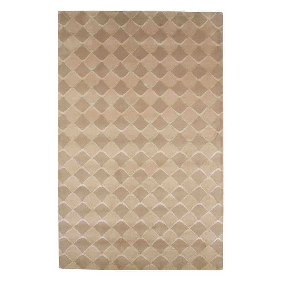 Jaipur Blue 3-ft 6-in x 5-ft 6-in Rectangular Multicolor Transitional Wool Area Rug