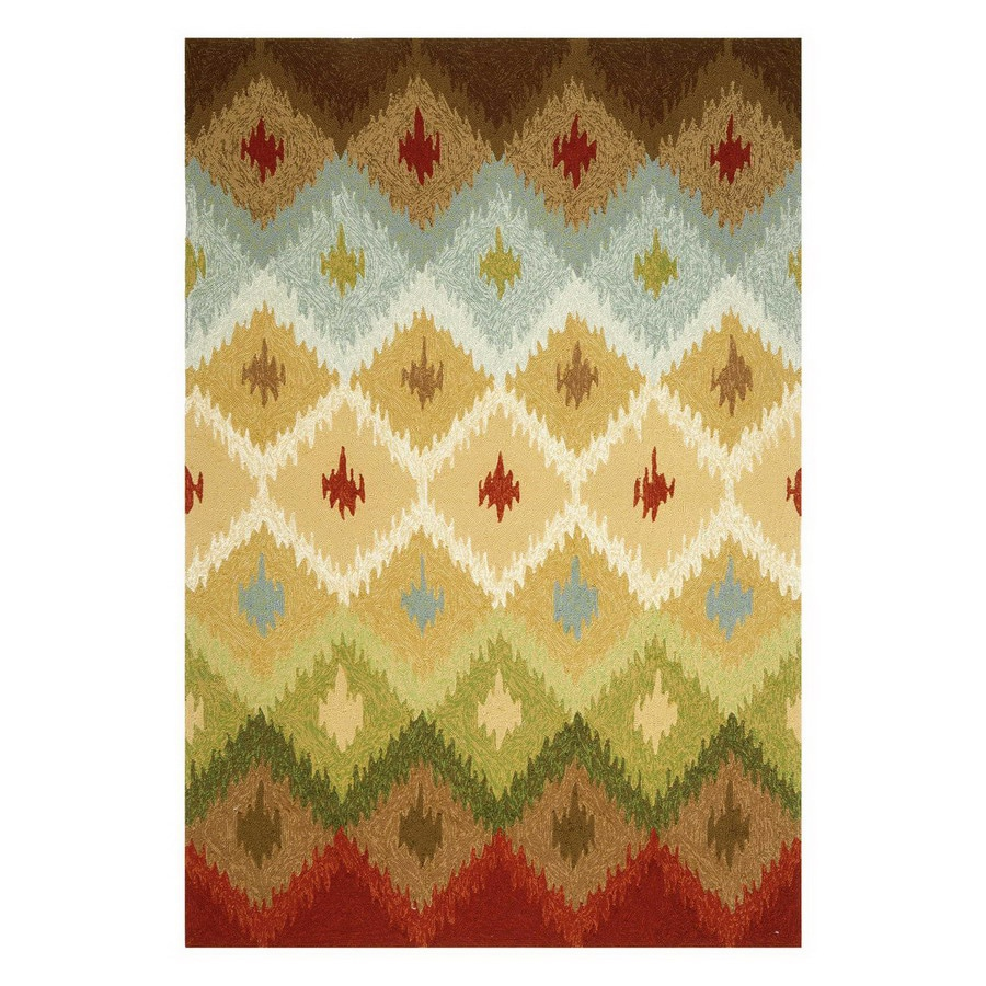 Jaipur Barcelona Rectangular Multicolor Geometric Indoor/Outdoor Area Rug (Actual: 5-ft x 7-ft 6-in)