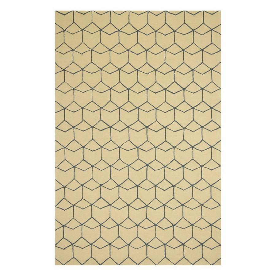 Jaipur Barcelona 6-ft 6-in x 9-ft 6-in Rectangular Multicolor Geometric Indoor/Outdoor Area Rug