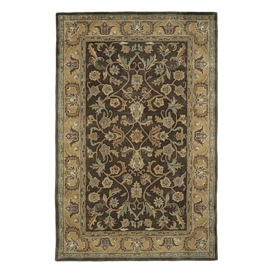 Kaleen Mystic Rectangular Brown Floral Wool Area Rug (Common: 5-ft x 8-ft; Actual: 5-ft x 7-ft 9-in)