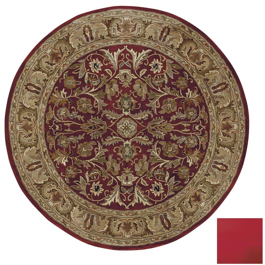 Kaleen Mystical Garden Round Multicolor Transitional Wool Area Rug (Common: 10-ft x 10-ft; Actual: 9-ft 9-in x 9-ft 9-in)