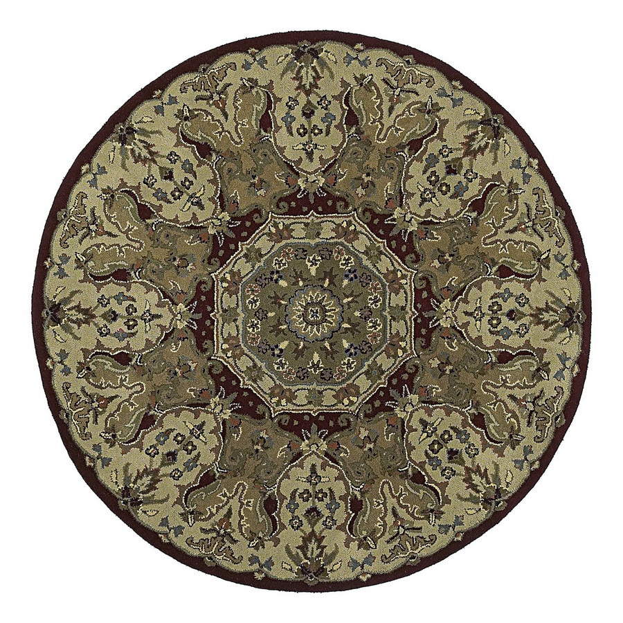 Kaleen Tara Round Multicolor Transitional Wool Area Rug (Common: 4-ft x 4-ft; Actual: 3-ft 9-in x 3-ft 9-in)
