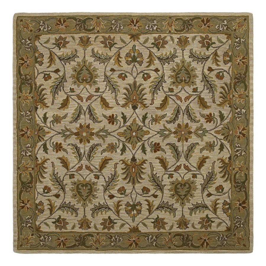 Kaleen Tara2 Square Multicolor Transitional Wool Area Rug (Common: 12-ft x 12-ft; Actual: 11-ft 9-in x 11-ft 9-in)