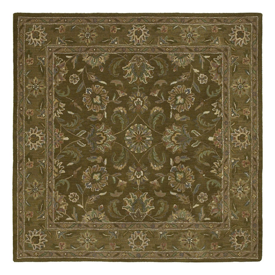 Kaleen Tara2 9-ft 9-in x 9-ft 9-in Square Multicolor Transitional Wool Area Rug