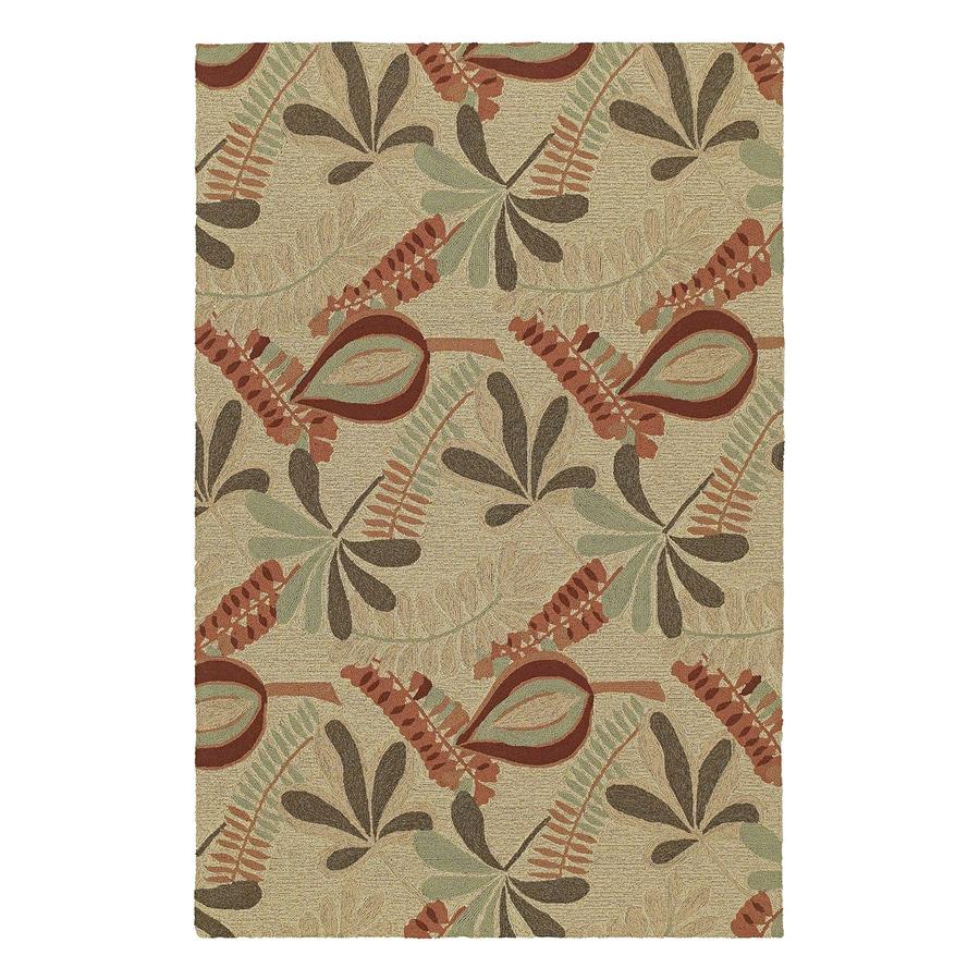 Kaleen Tybee Linen Rectangular Indoor/Outdoor Woven Nature Area Rug (Common: 5 x 8; Actual: 5-ft W x 7.5-ft L)