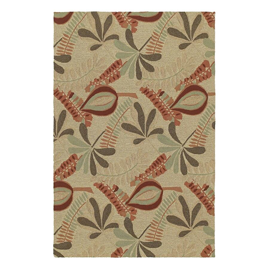 Kaleen Tybee Linen Rectangular Indoor/Outdoor Woven Nature Area Rug (Common: 8 x 9; Actual: 7.5-ft W x 9-ft L)