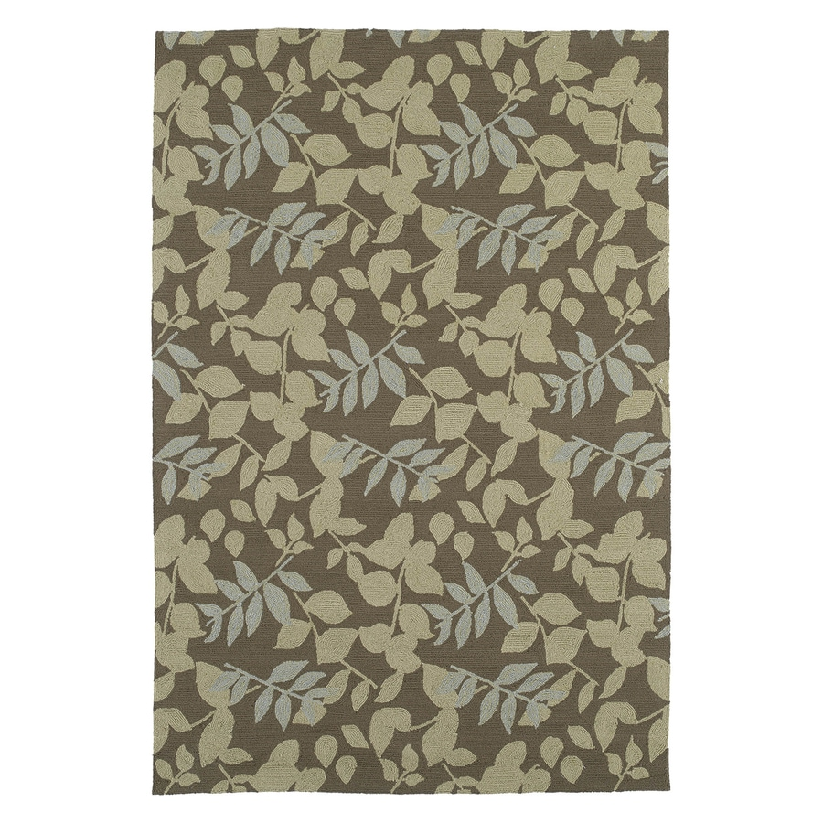 Kaleen Wymberly Coffee Rectangular Indoor/Outdoor Woven Nature Area Rug (Common: 8 x 9; Actual: 7.5-ft W x 9-ft L)