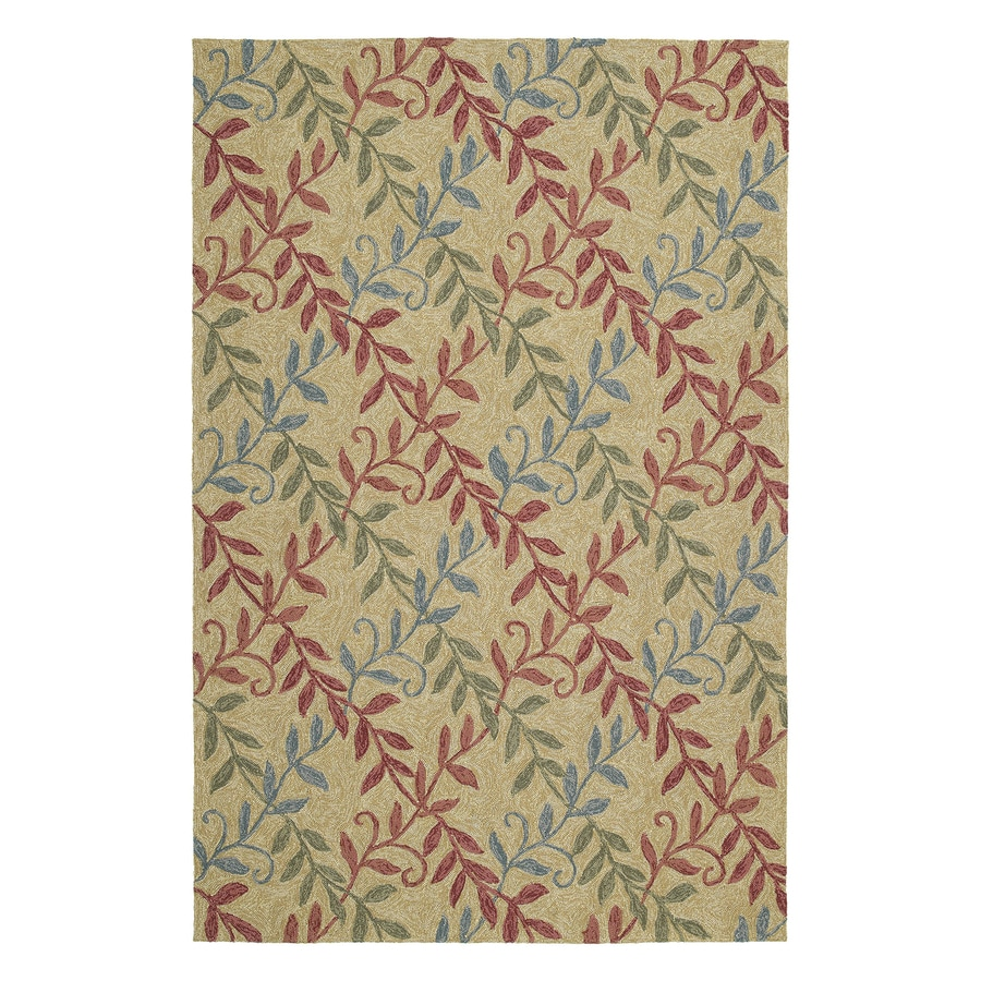 Kaleen Factors Walk Butterscotch Rectangular Indoor/Outdoor Woven Nature Area Rug (Common: 5 x 8; Actual: 5-ft W x 7.5-ft L)