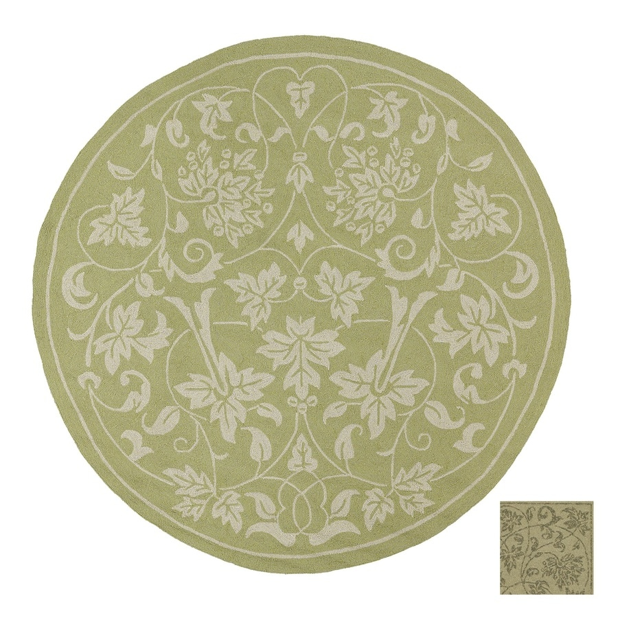 Kaleen Home and Porch 7-ft 9-in x 7-ft 9-in Round Brown Nature Indoor/Outdoor Area Rug