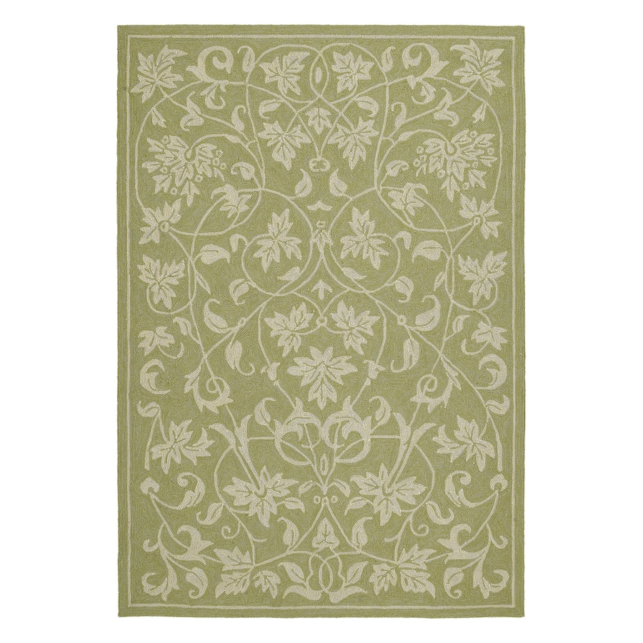 Kaleen Presley Celery Rectangular Indoor/Outdoor Woven Nature Area Rug (Common: 5 x 8; Actual: 60-in W x 90-in L)