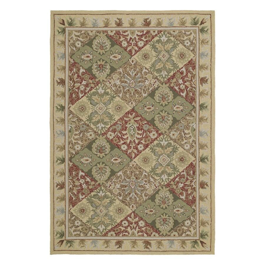 Kaleen Desoto Linen Rectangular Indoor/Outdoor Woven Oriental Area Rug (Common: 5 x 8; Actual: 5-ft W x 7.5-ft L)