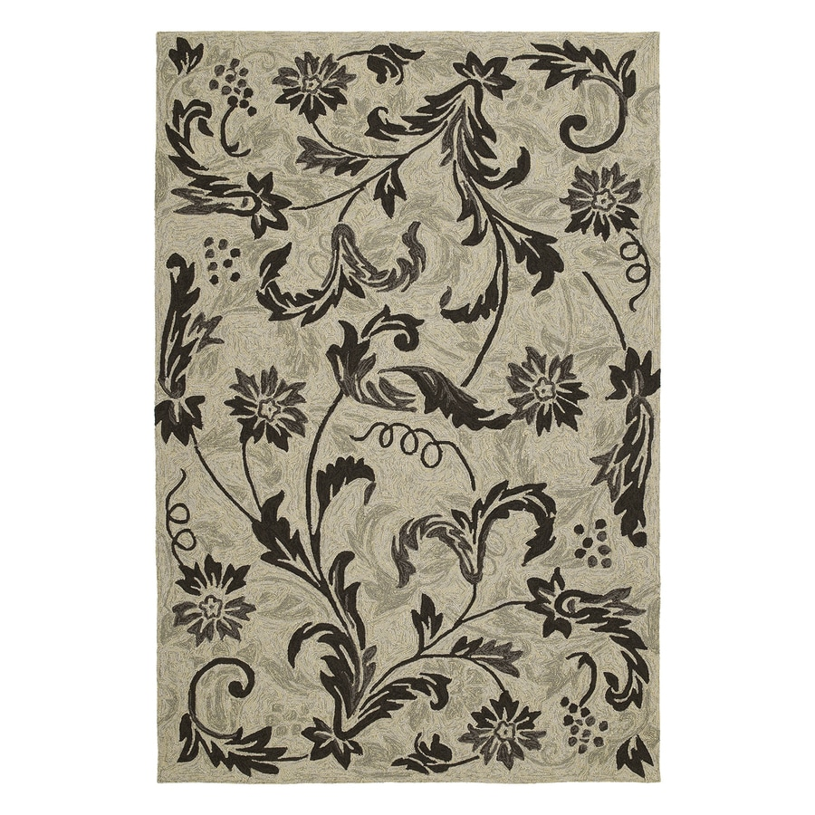 Kaleen Rivoli Beige Rectangular Indoor/Outdoor Woven Nature Area Rug (Common: 5 x 8; Actual: 5-ft W x 7.5-ft L)