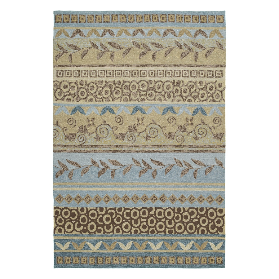 Kaleen Idle Hour Glacier Rectangular Indoor/Outdoor Woven Area Rug (Common: 5 x 8; Actual: 60-in W x 90-in L)
