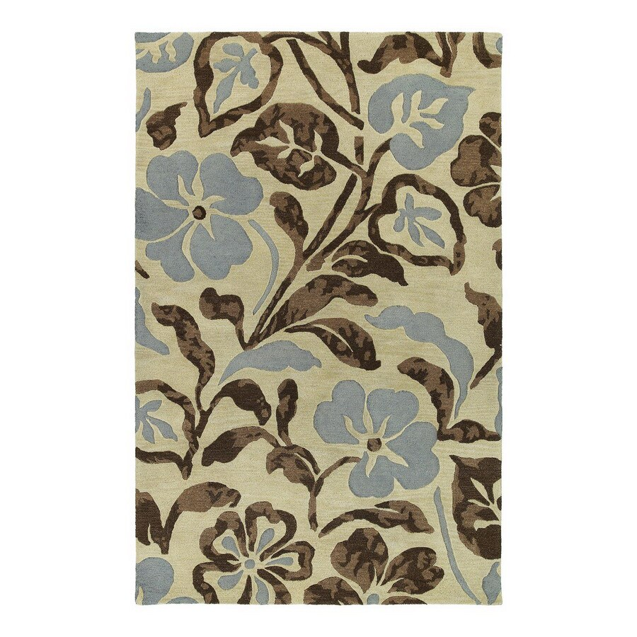 Kaleen Calais 8-ft x 8-ft Square Multicolor Floral Area Rug