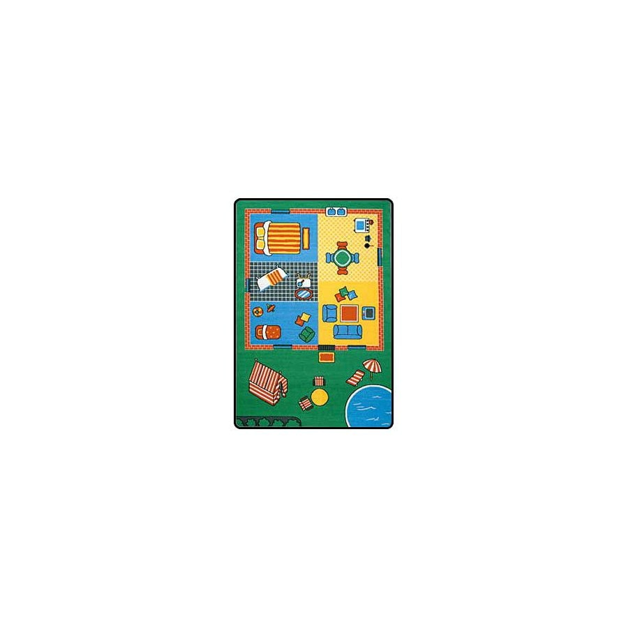 Learning Carpets Play Carpets Rectangular Green Transitional Accent Rug (Common: 3-ft x 4-ft; Actual: 36-in x 52-in)