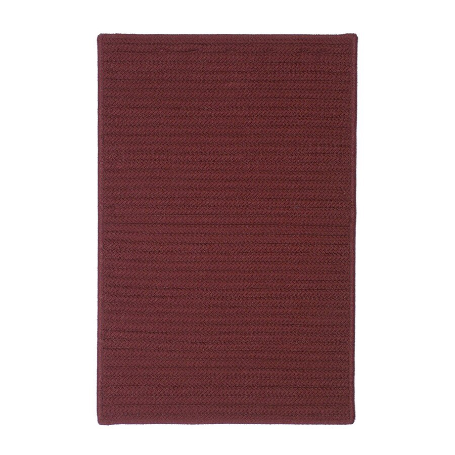 Colonial Mills 30-in x 20-in Plum Rectangular Door Mat