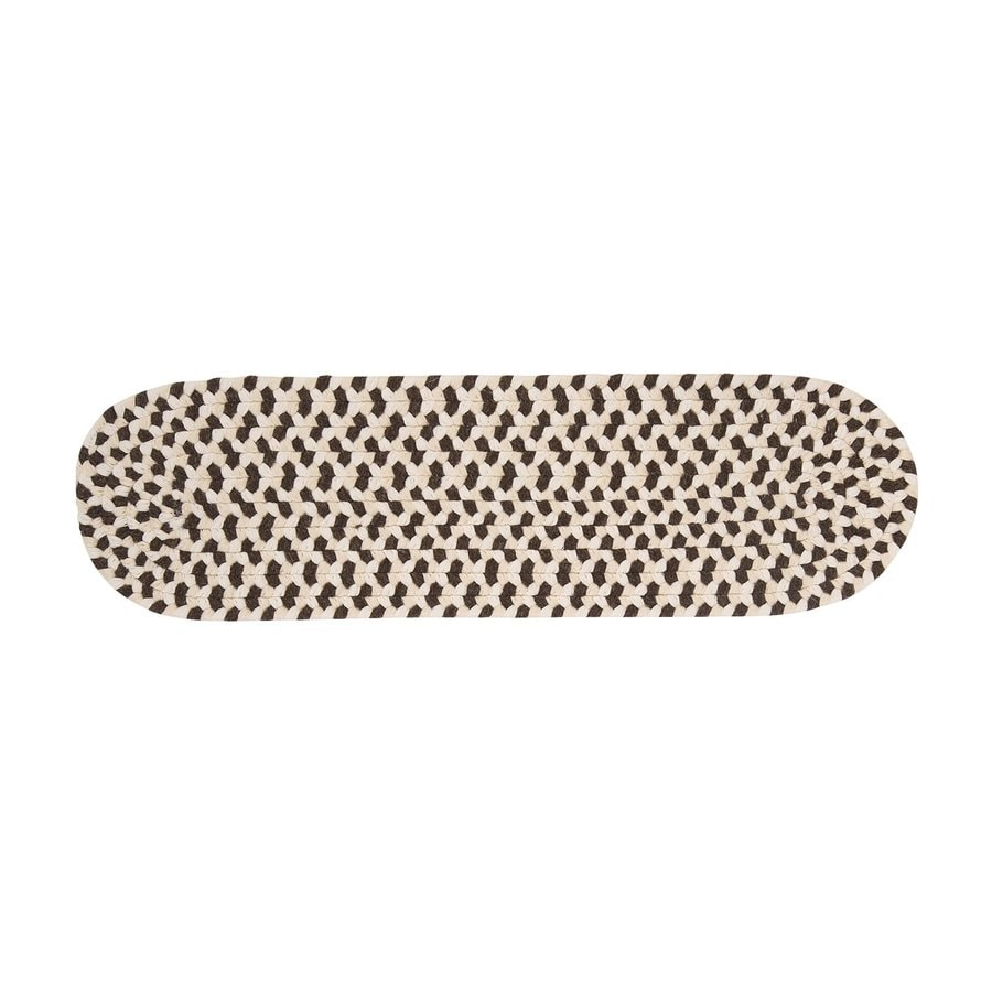 Colonial Mills Brown Oval Stair Tread Mat (Common: 1/2-ft x 2-1/4-ft; Actual: 8-in x 28-in)