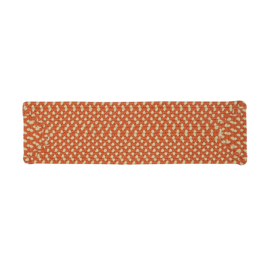 Colonial Mills Orange Rectangular Stair Tread Mat (Common: 8-in x 28-in; Actual: 8-in x 28-in)