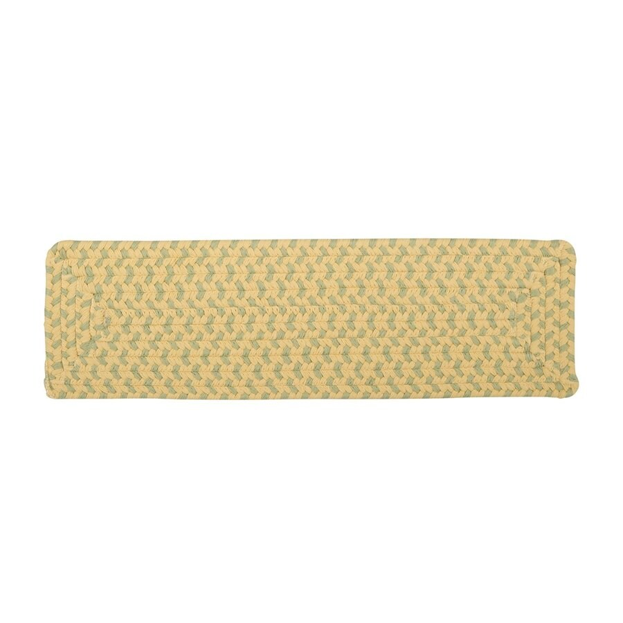 Colonial Mills Yellow Rectangular Stair Tread Mat (Common: 1/2-ft x 2-1/4-ft; Actual: 8-in x 28-in)