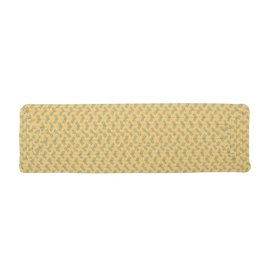 Colonial Mills Yellow Rectangular Stair Tread Mat (Common: 8-in x 28-in; Actual: 8-in x 28-in)