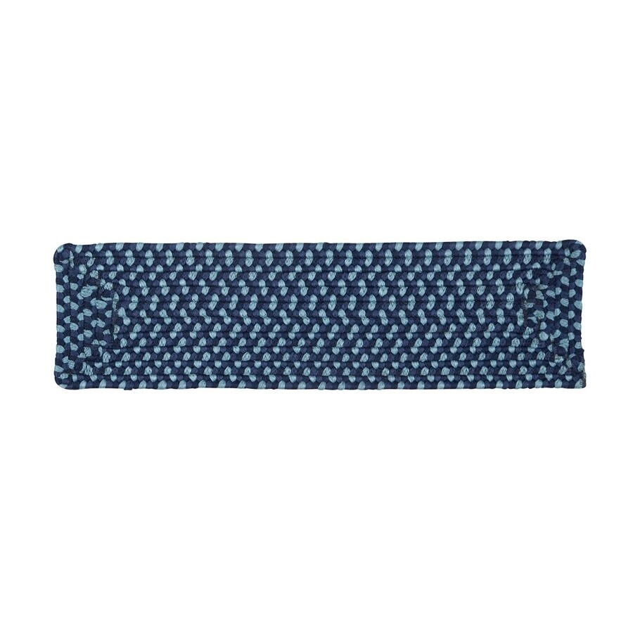 Colonial Mills 8-in x 28-in Montego Blue Burst Olefin/Polypropylene Indoor/Outdoor Stair Tread Mat