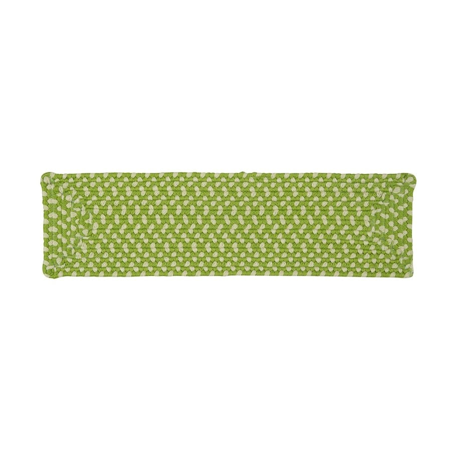 Colonial Mills Green Rectangular Stair Tread Mat (Common: 8-in x 28-in; Actual: 8-in x 28-in)