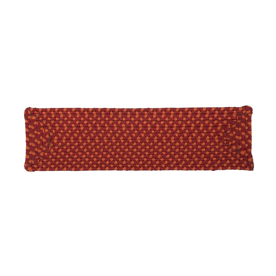 Colonial Mills Red Rectangular Stair Tread Mat (Common: 8-in x 28-in; Actual: 8-in x 28-in)