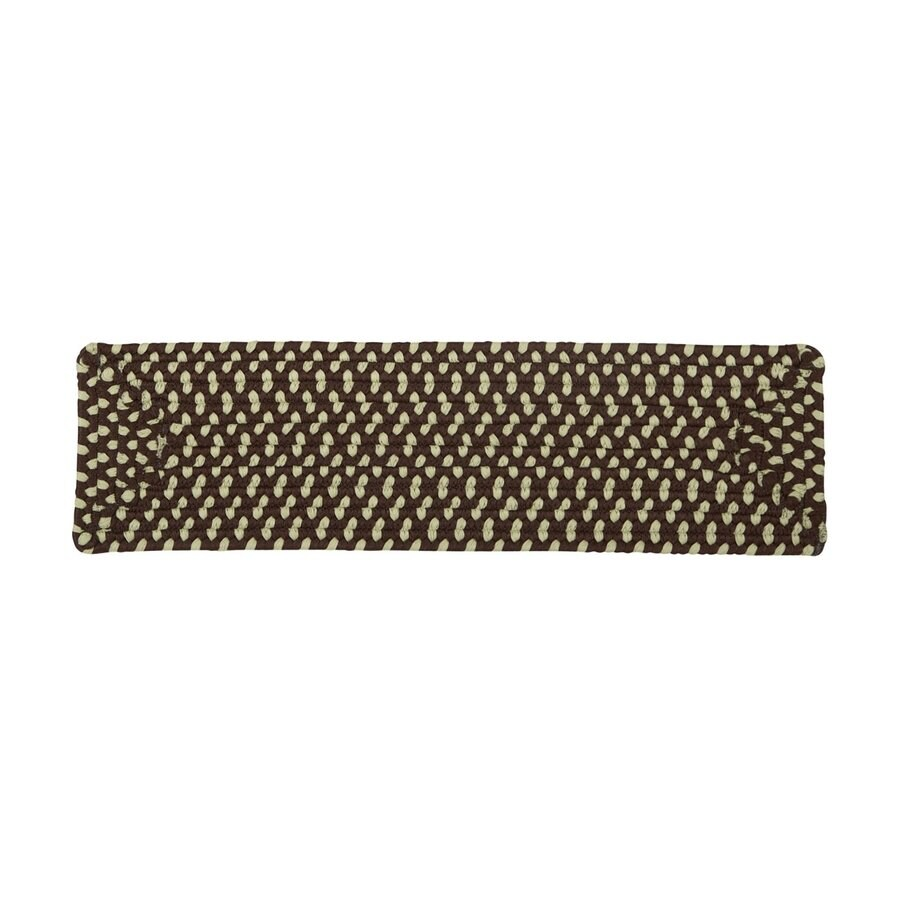 Colonial Mills Bright Brown 13-Pack Rectangular Stair Tread Mat (Common: 8-in x 28-in; Actual: 8-in x 28-in)