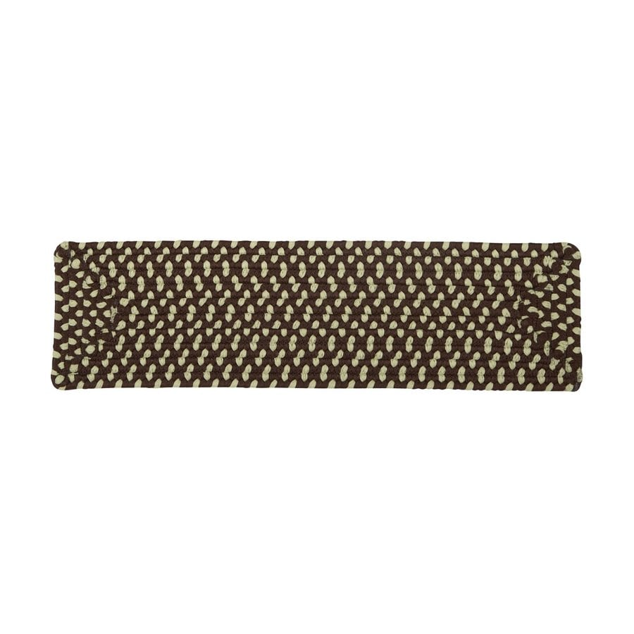Colonial Mills Brown Rectangular Stair Tread Mat (Common: 8-in x 28-in; Actual: 8-in x 28-in)